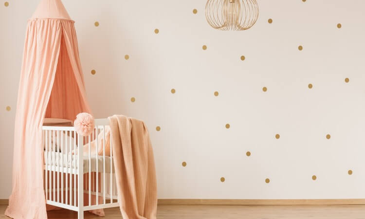 How To Make A Crib Canopy With Flowers